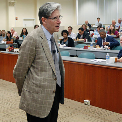 Julio Frenk at town hall discussion