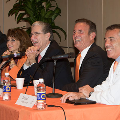 President Julio Frenk during a visit to the Miller School of Medicine campus