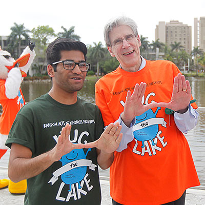 President Julio Frenk at the Hug the Lake event in Spring 2015